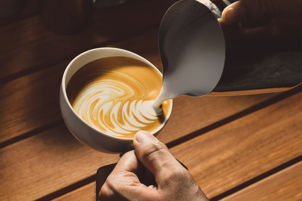 Zrnková káva King's Coffee.