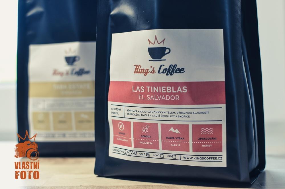 Sáček a zrnková káva King's Coffee